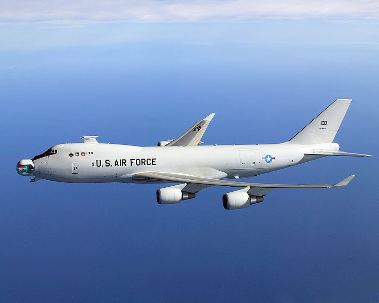 Microwave Beam weapon here is Mounted on a YAL-1 Air Force