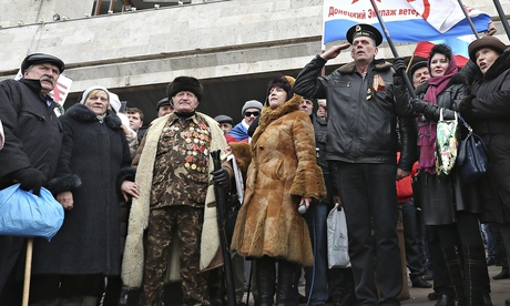 Donetsk demonstrators