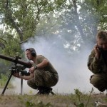 soldiers firing mortar