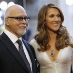 Singer Celine Dion and her husband Rene