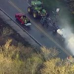 Tractor traveling from Wisconsin to Illinois leaked ammonia!