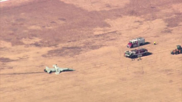air force plane crash in Alabama with two pilots dead